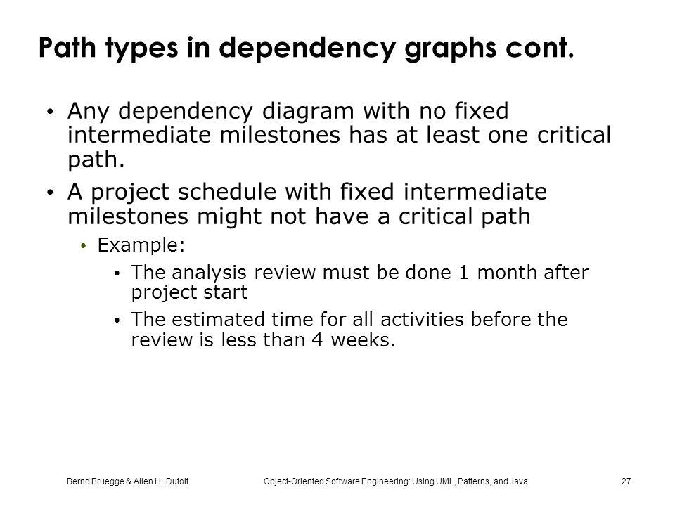 Path types in dependency graphs cont.