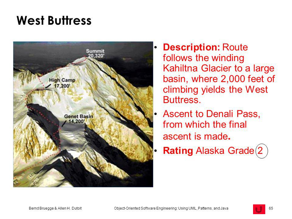 West Buttress Description: Route follows the winding Kahiltna Glacier to a large basin, where 2,000 feet of climbing yields the West Buttress.