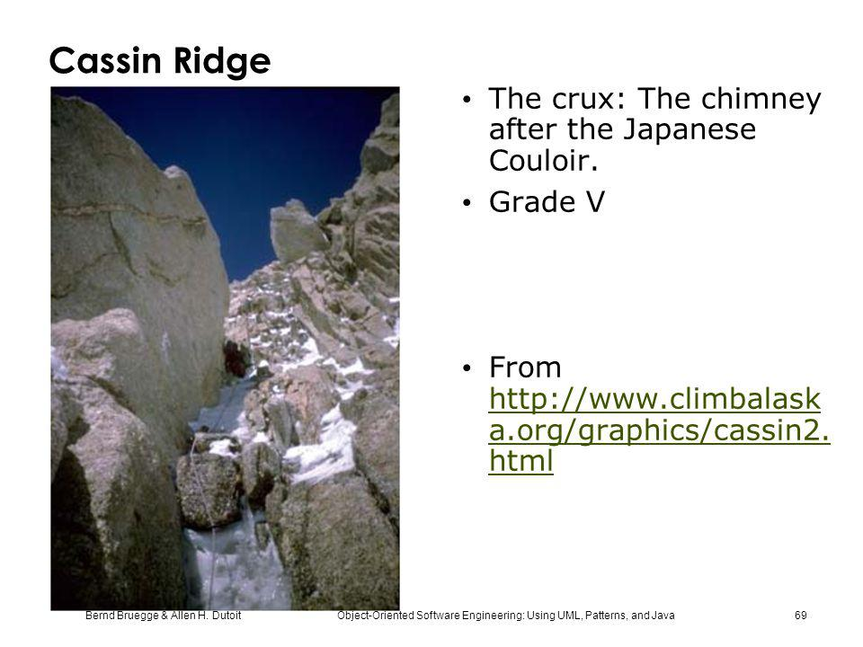 Cassin Ridge The crux: The chimney after the Japanese Couloir. Grade V
