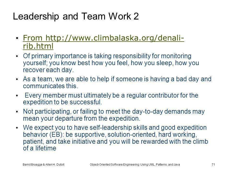 Leadership and Team Work 2