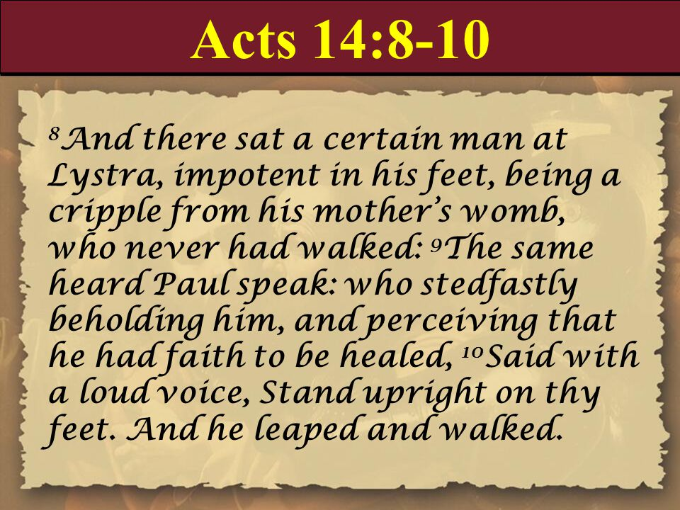 Acts 14:8-10