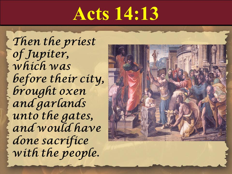 Acts 14:13