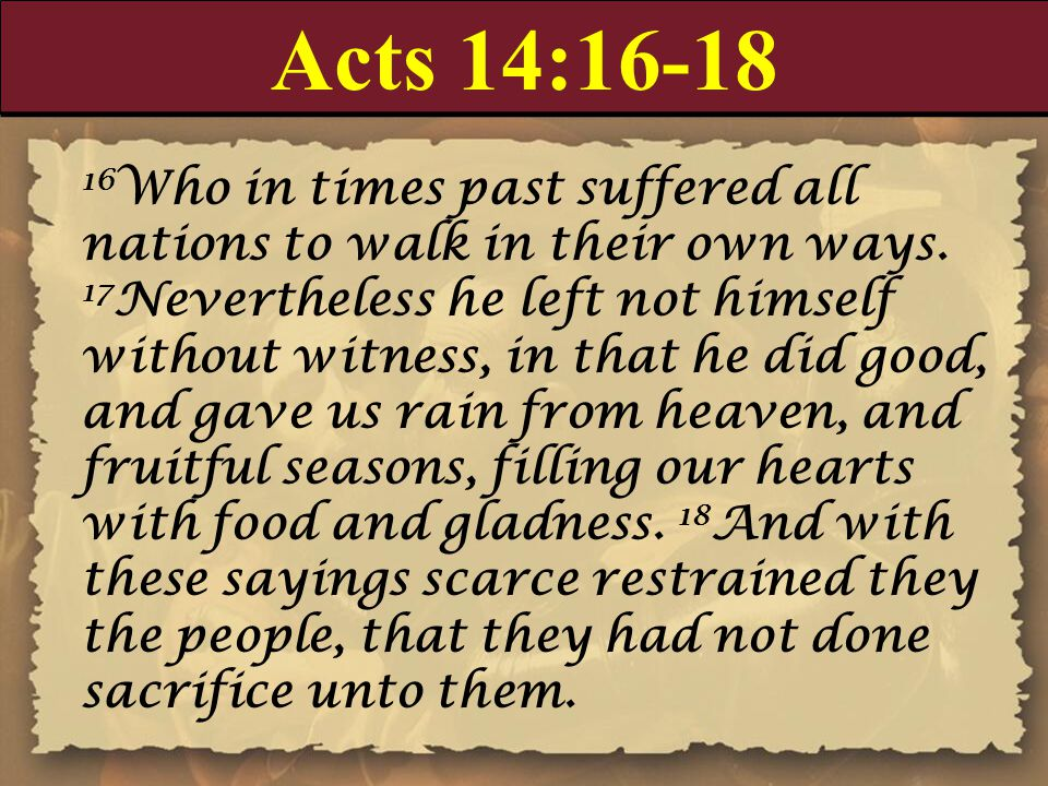 Acts 14:16-18