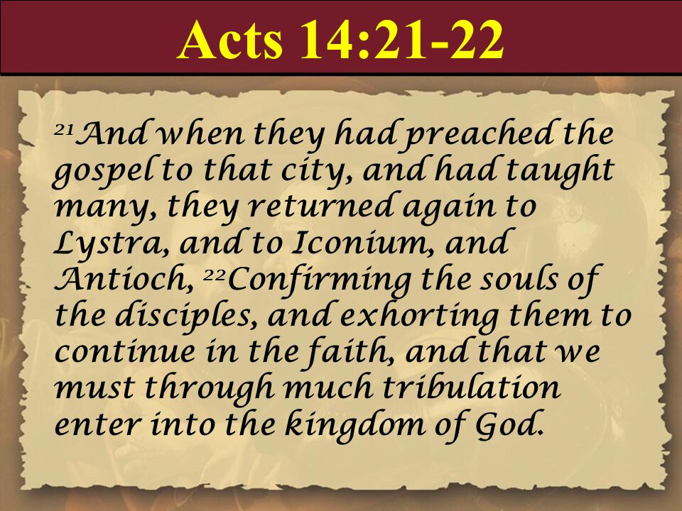 Acts 14:21-22