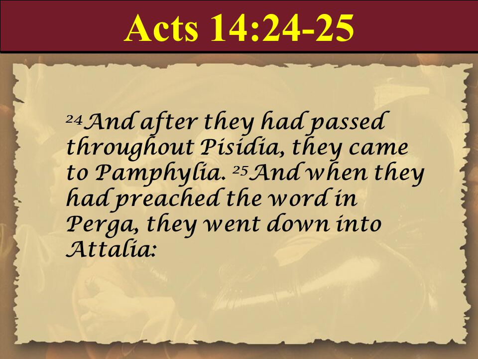 Acts 14:24-25