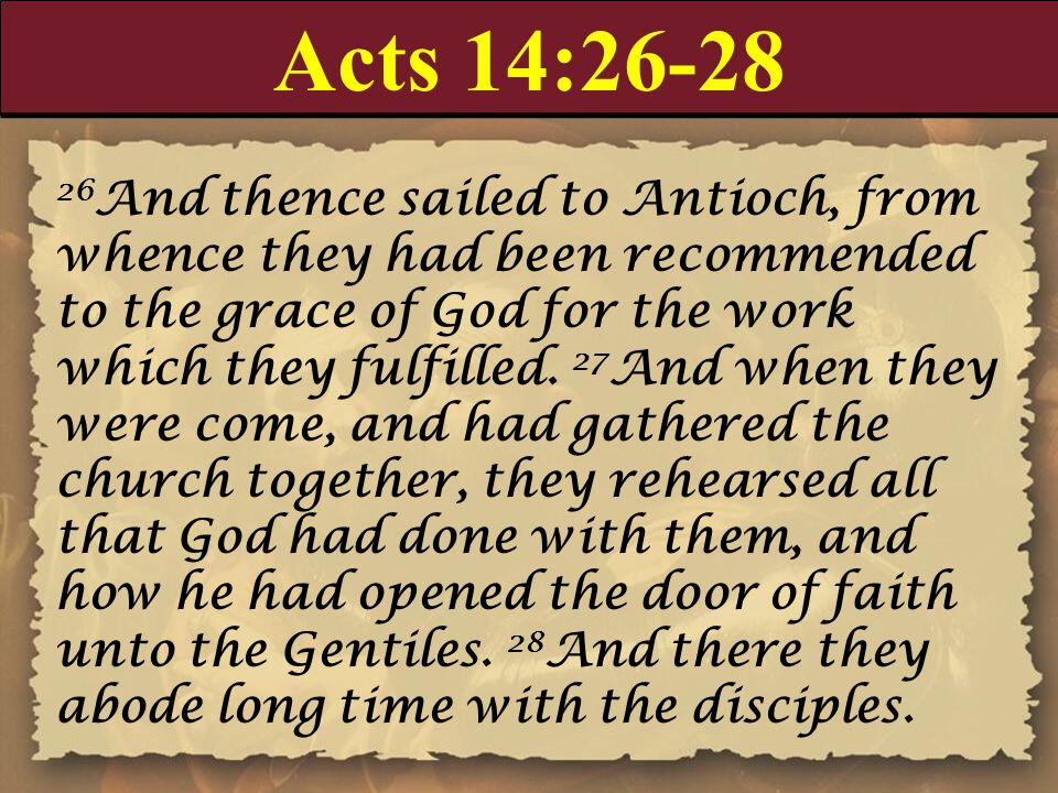 Acts 14:26-28