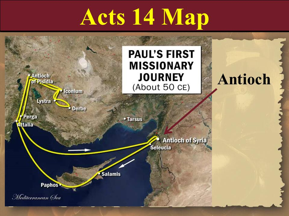 Acts 14 Map Antioch.