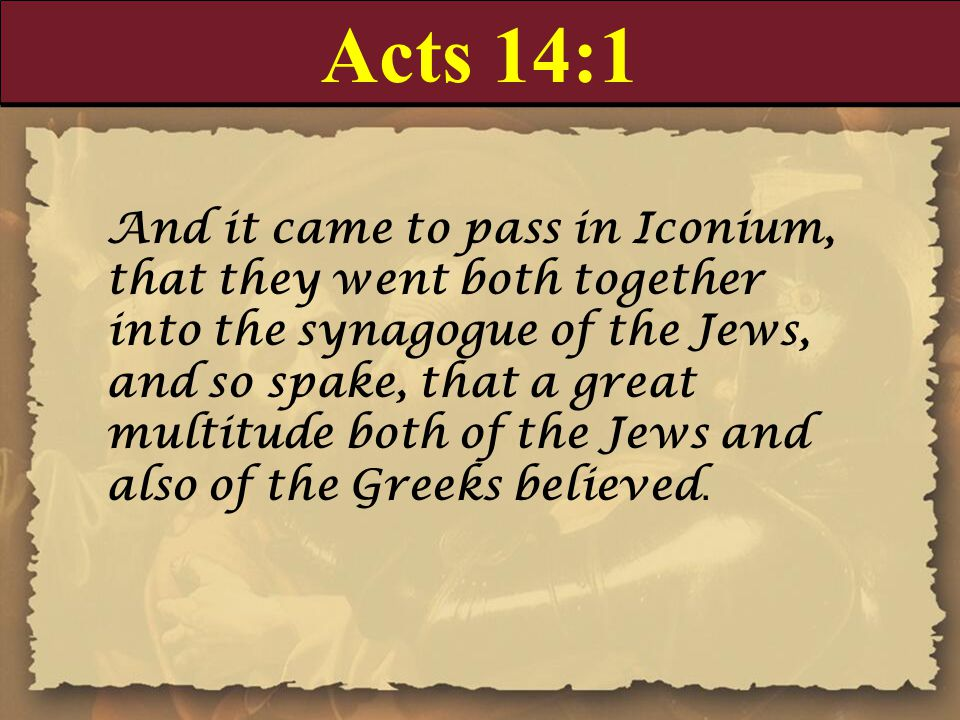 Acts 14:1