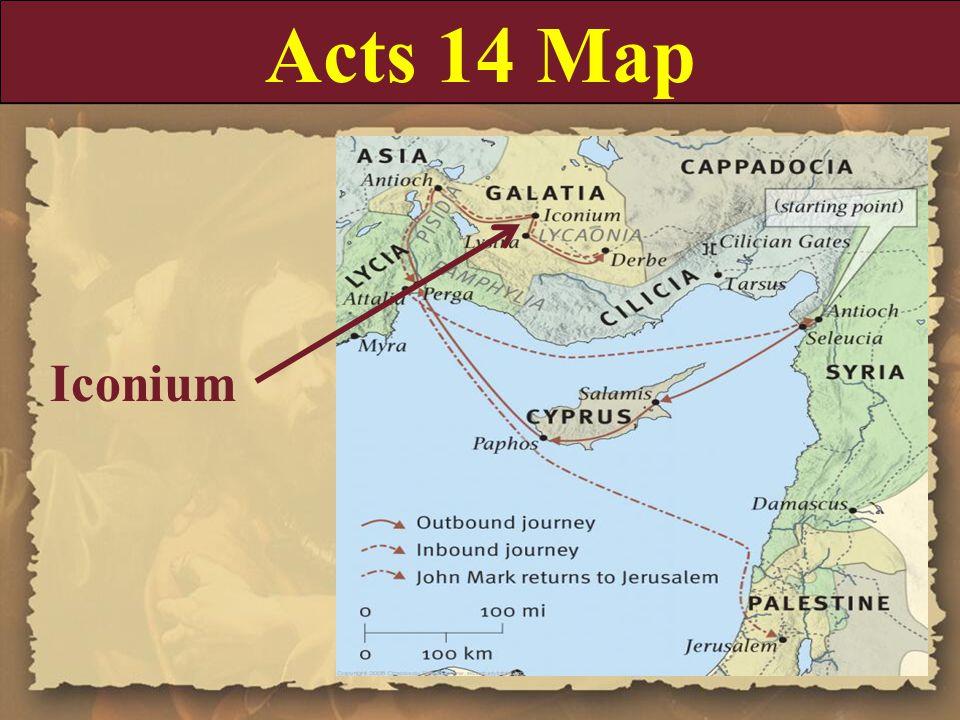 Acts 14 Map Iconium