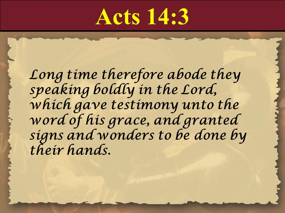 Acts 14:3