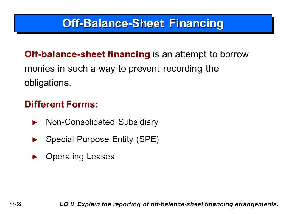 Off-Balance-Sheet Financing