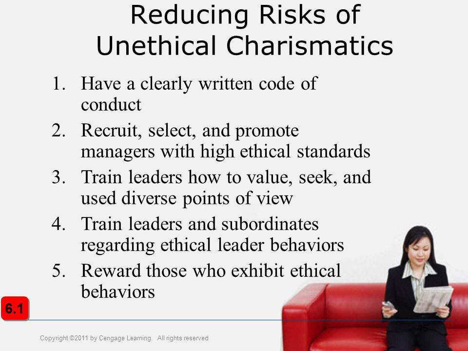 Reducing Risks of Unethical Charismatics