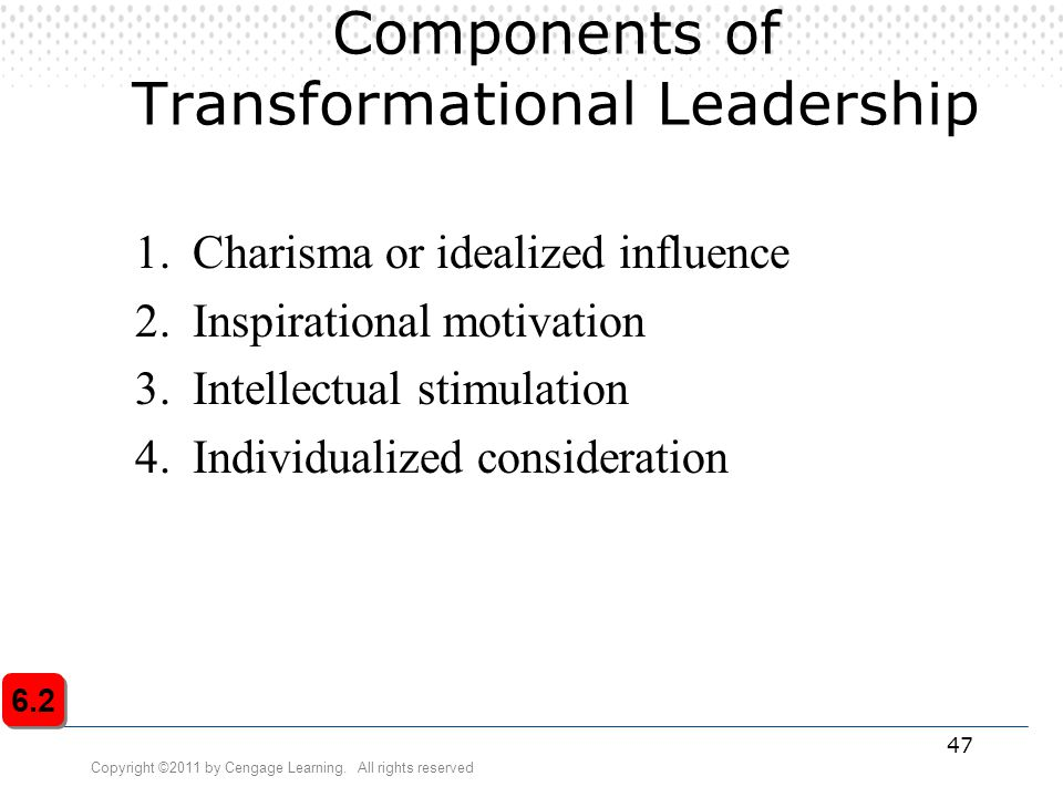 Components of Transformational Leadership