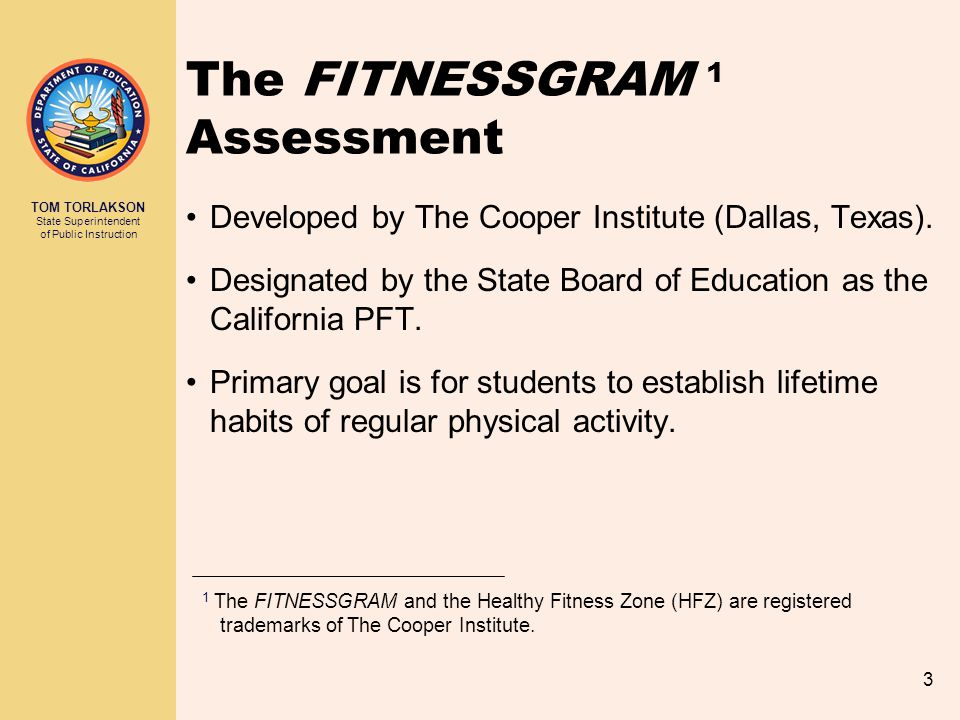 The FITNESSGRAM 1 Assessment