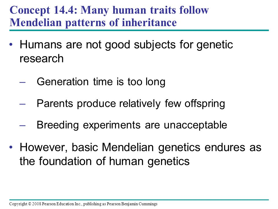 Humans are not good subjects for genetic research