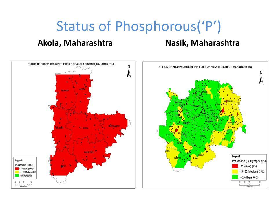 Status of Phosphorous('P')