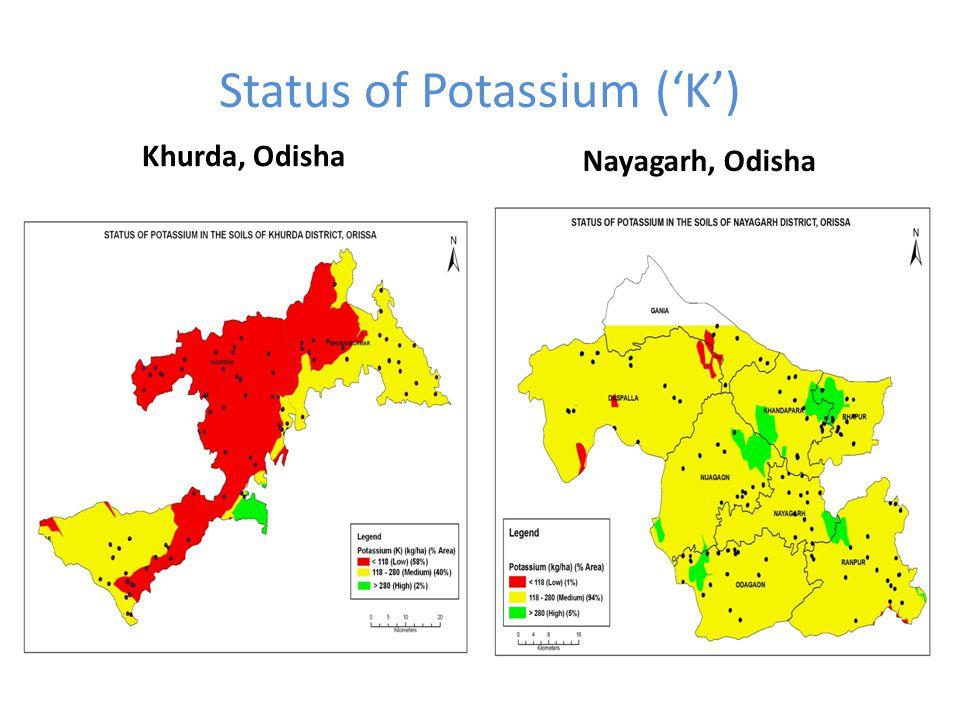 Status of Potassium ('K')