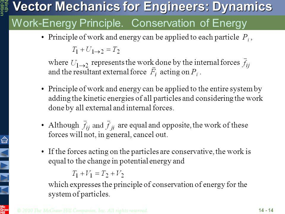 Work-Energy Principle. Conservation of Energy
