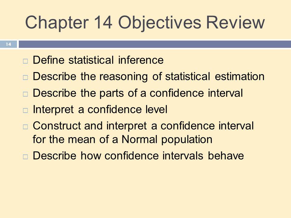 Chapter 14 Objectives Review