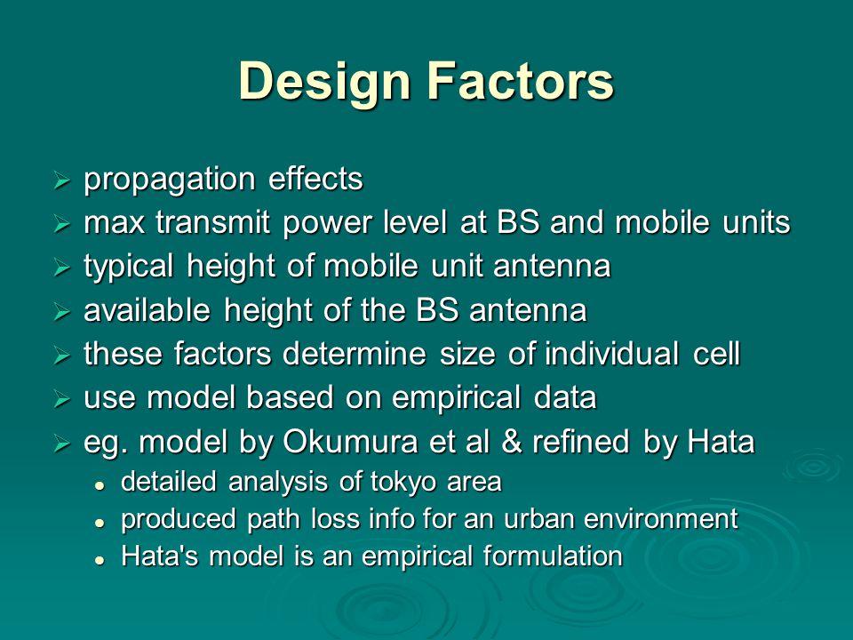 Design Factors propagation effects