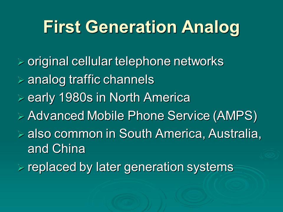First Generation Analog