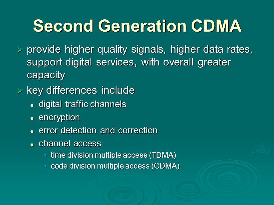 Second Generation CDMA
