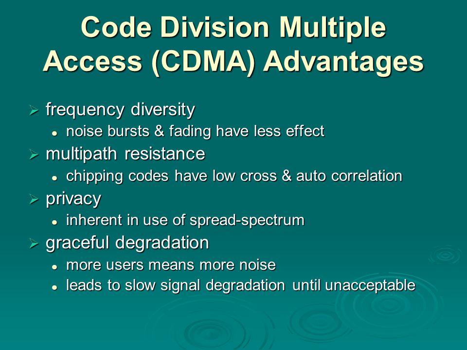 Code Division Multiple Access (CDMA) Advantages