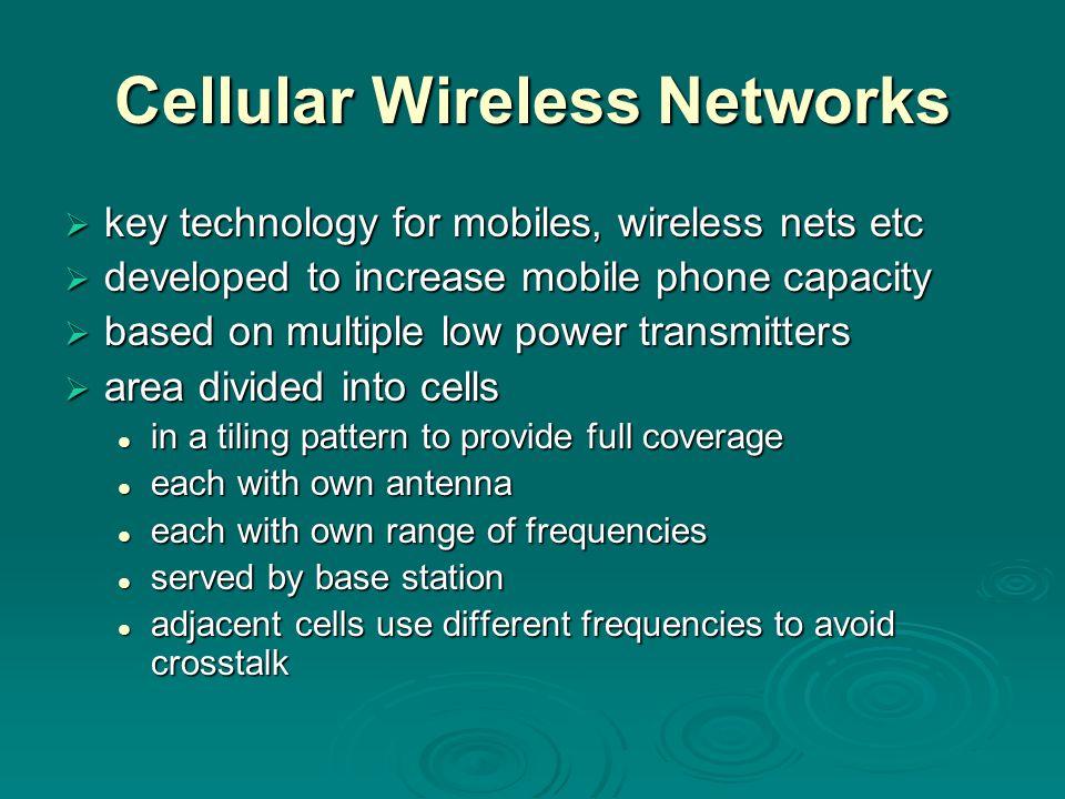 Cellular Wireless Networks