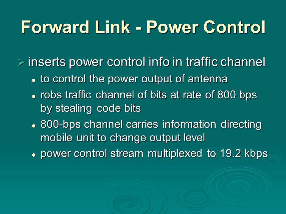 Forward Link - Power Control