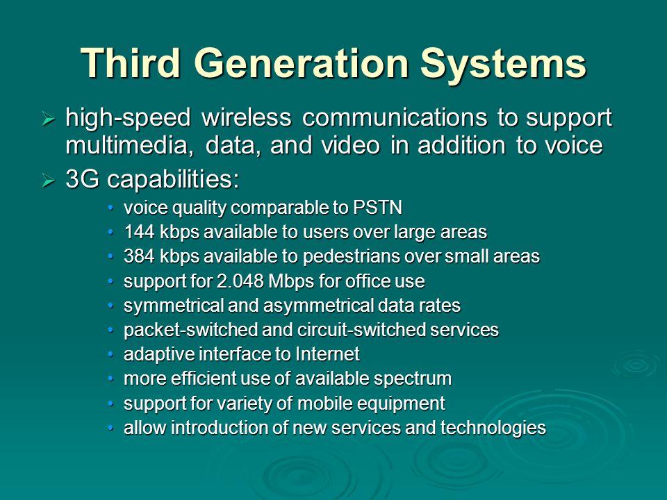 Third Generation Systems