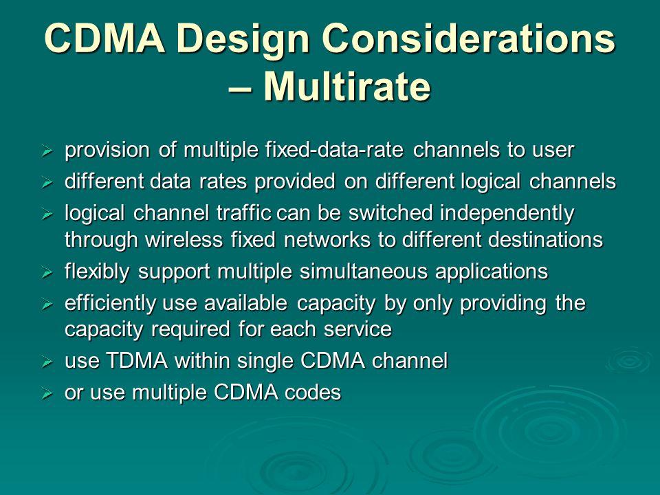 CDMA Design Considerations – Multirate