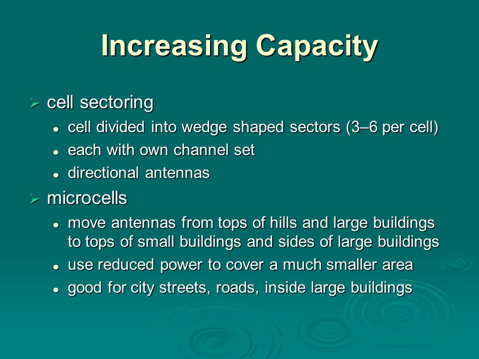 Increasing Capacity cell sectoring microcells
