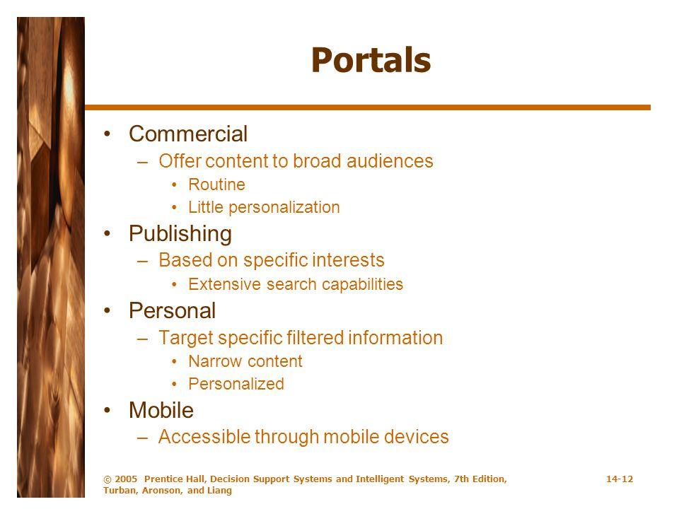 Portals Commercial Publishing Personal Mobile