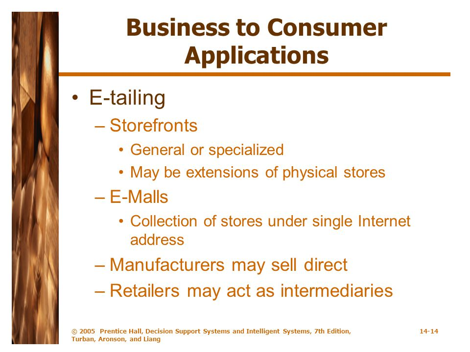 Business to Consumer Applications