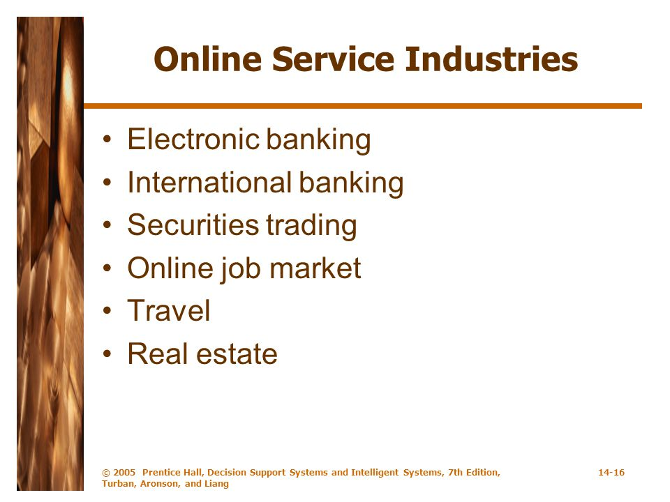 Online Service Industries
