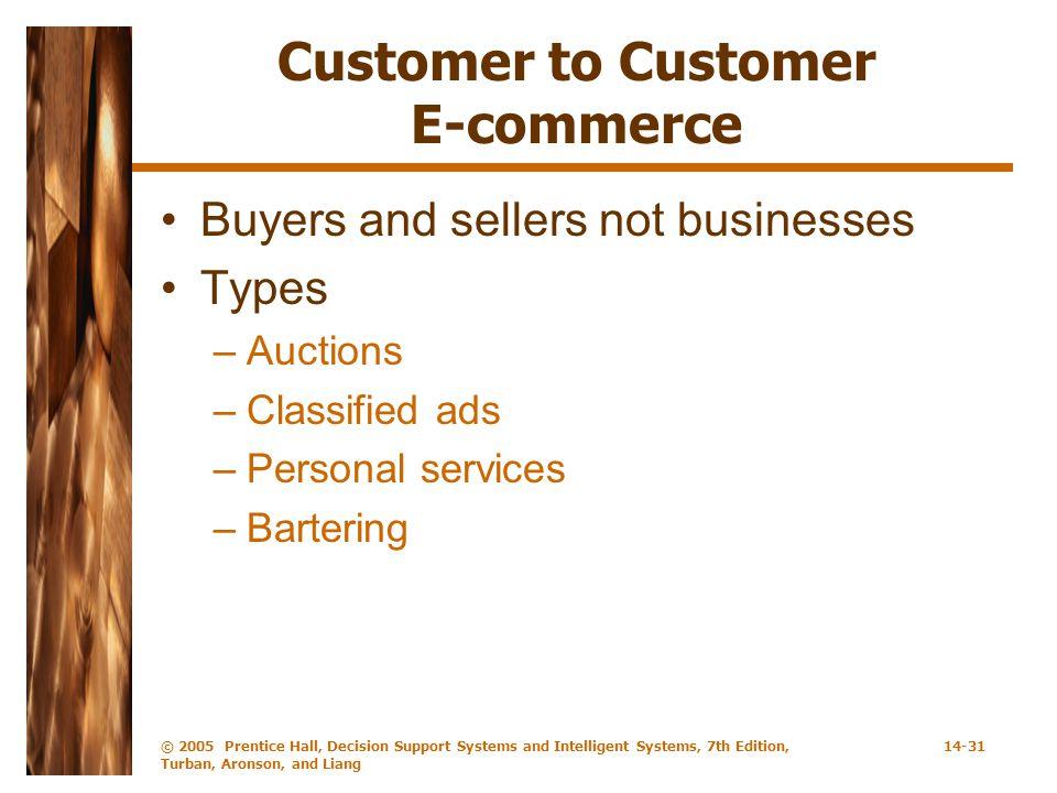 Customer to Customer E-commerce