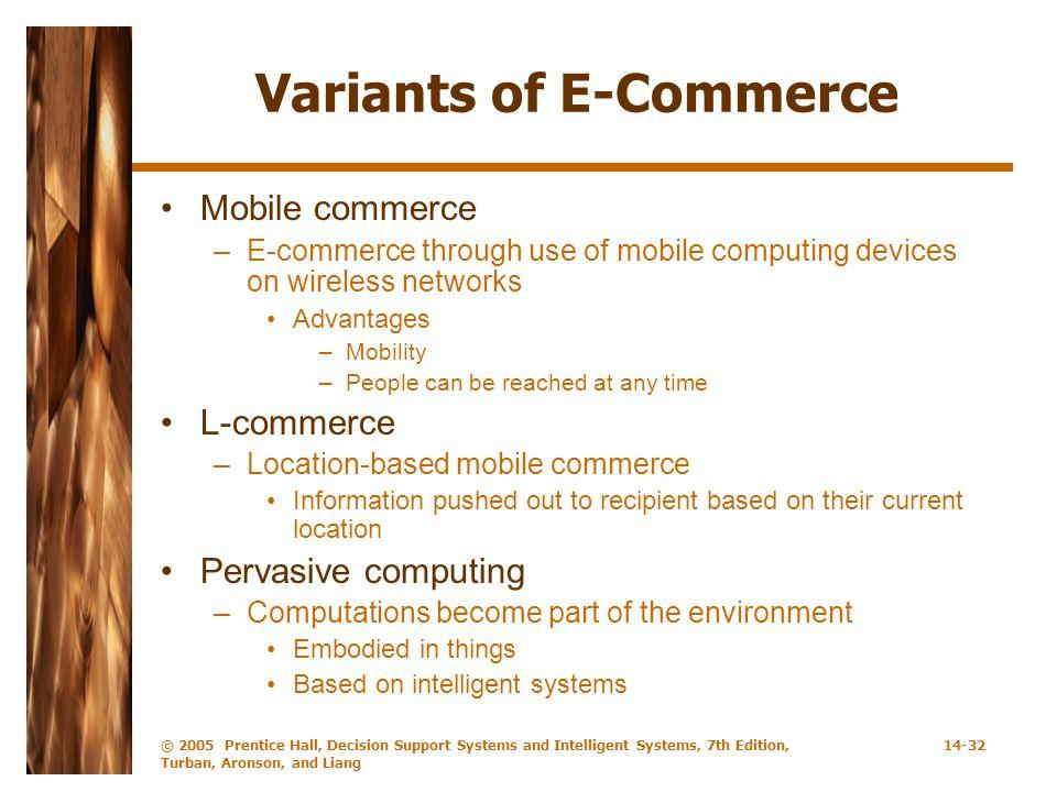 Variants of E-Commerce