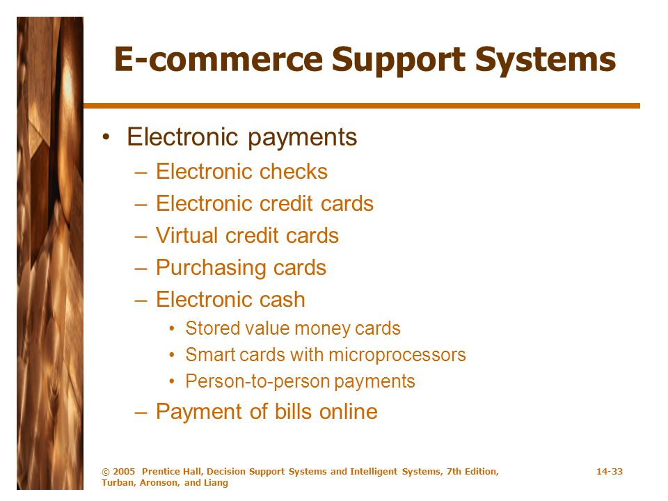 E-commerce Support Systems