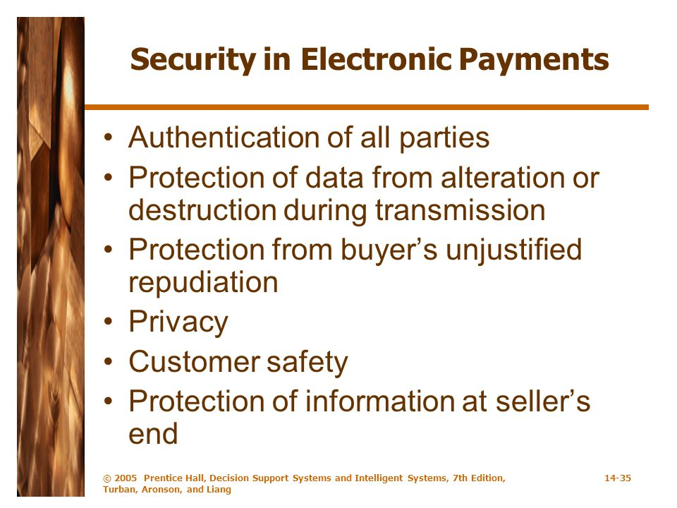 Security in Electronic Payments