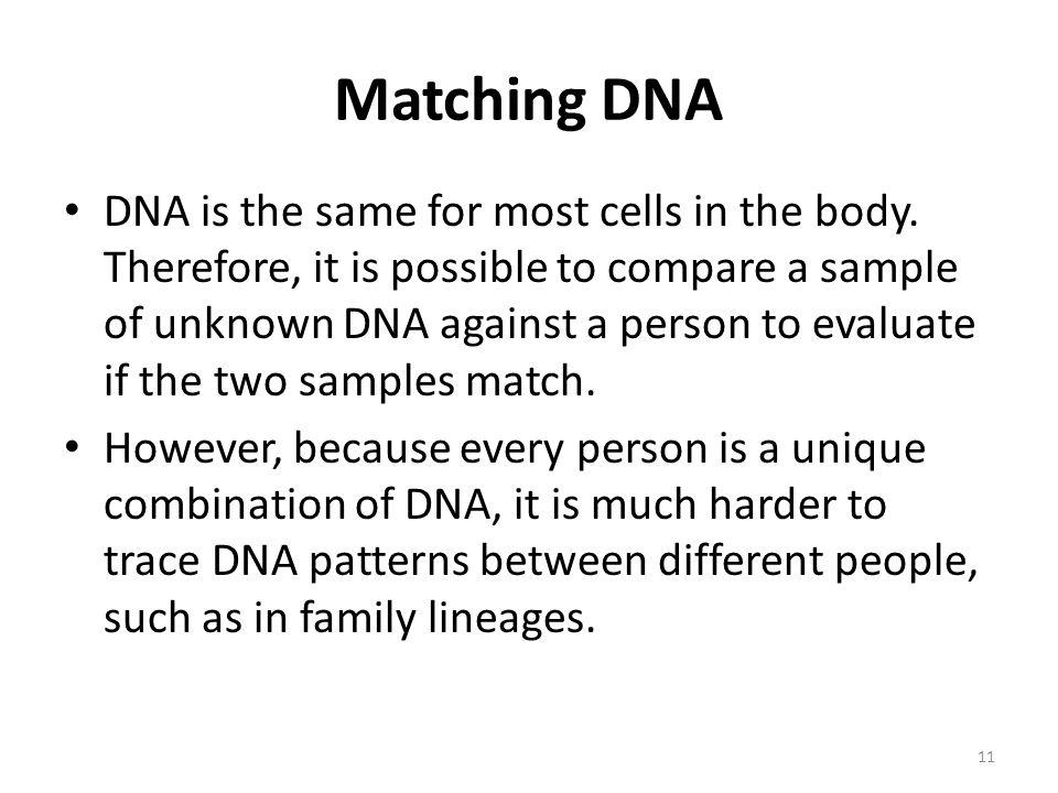 Matching DNA