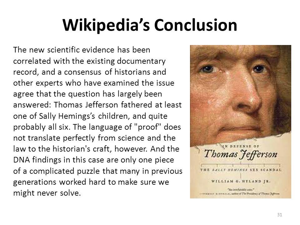 Wikipedia's Conclusion