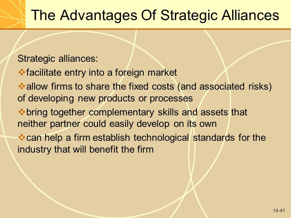 The Advantages Of Strategic Alliances