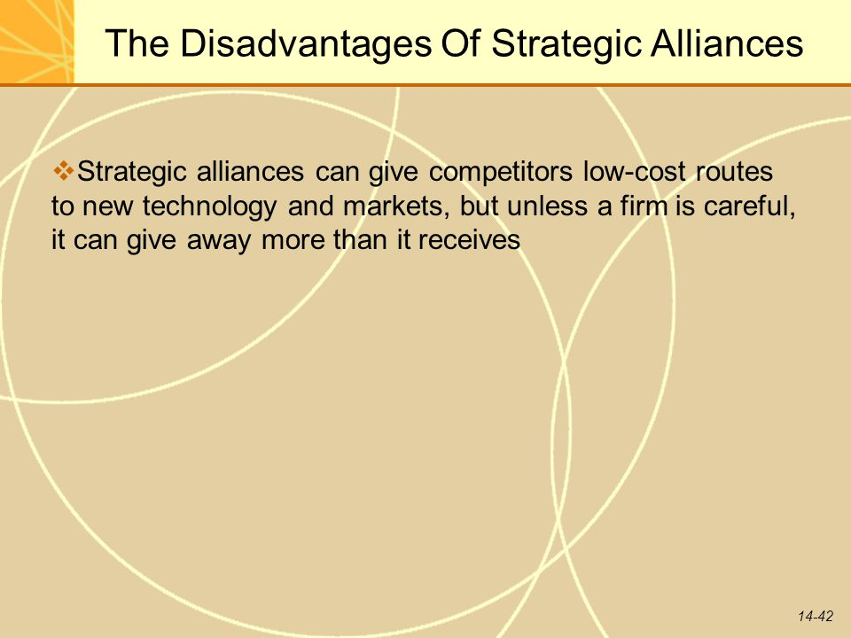 The Disadvantages Of Strategic Alliances