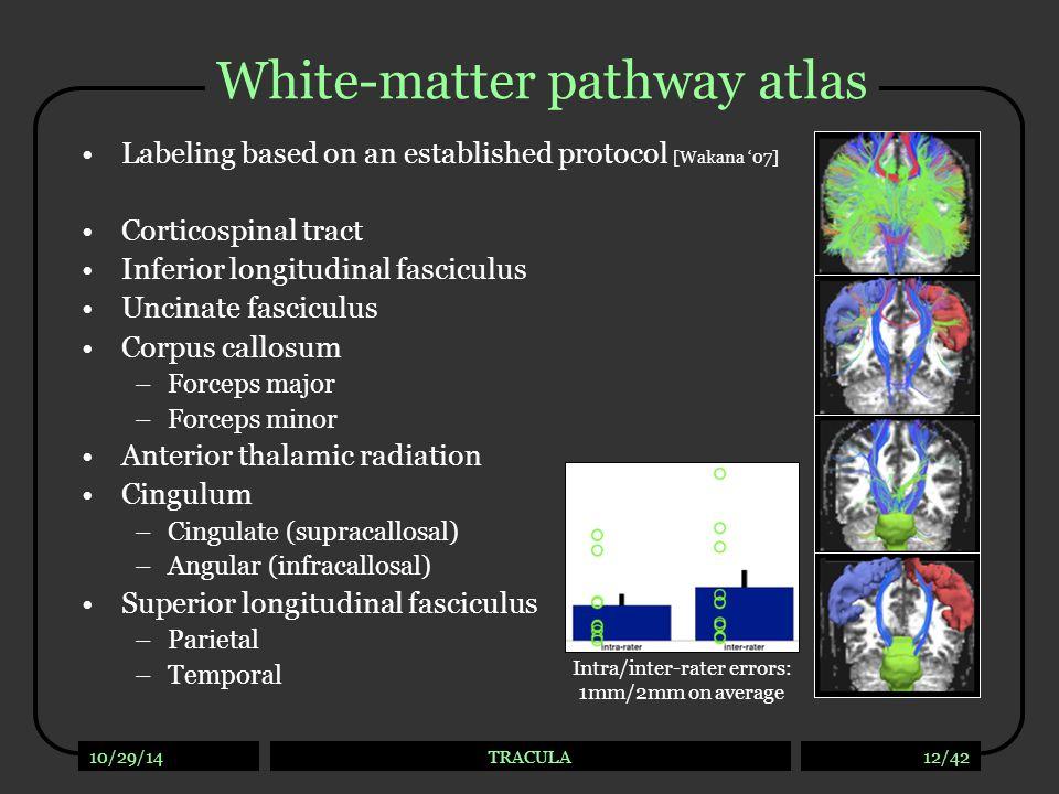 White-matter pathway atlas