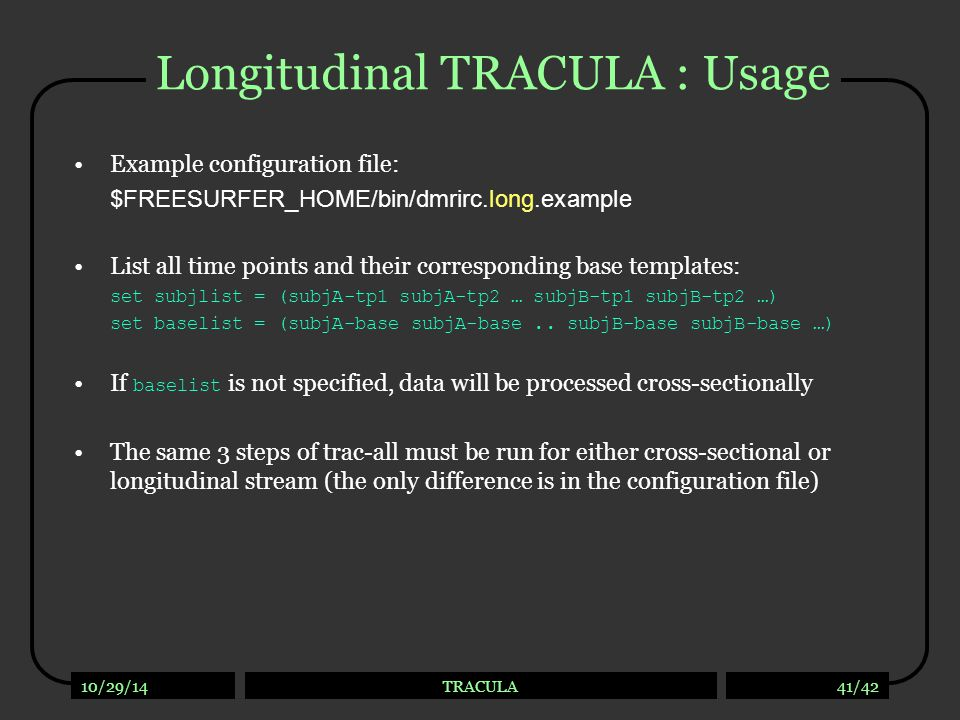 Tutorial How to run TRACULA and view outputs: