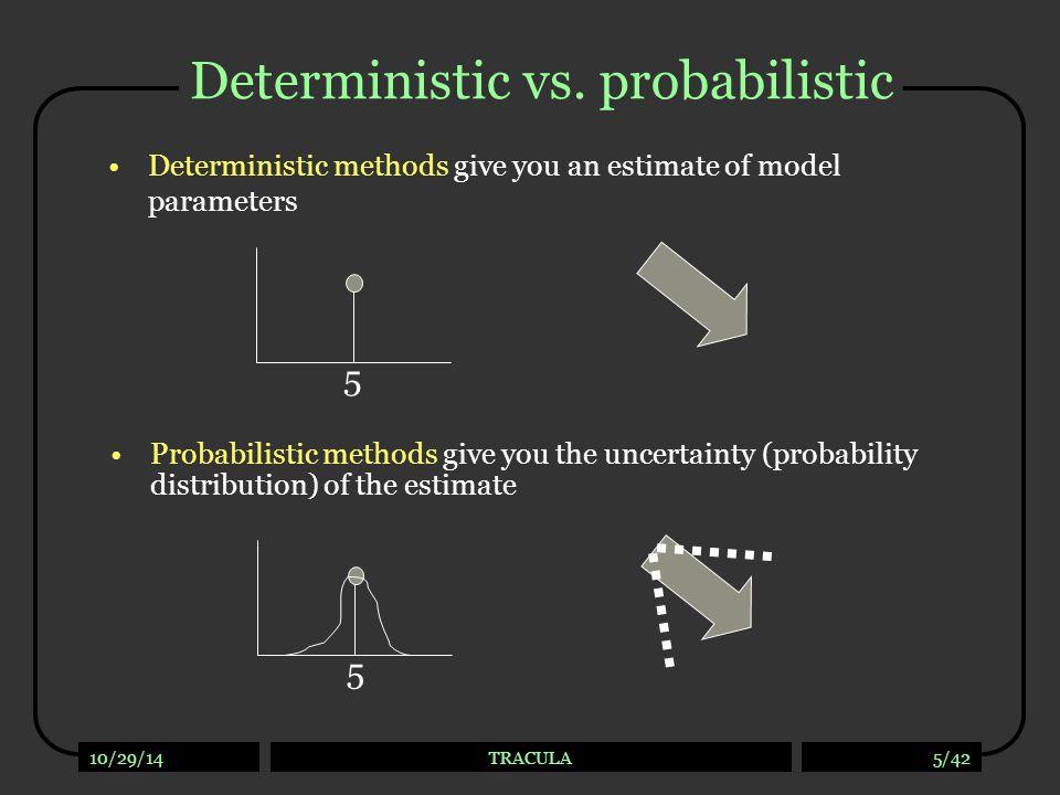 Deterministic vs. probabilistic