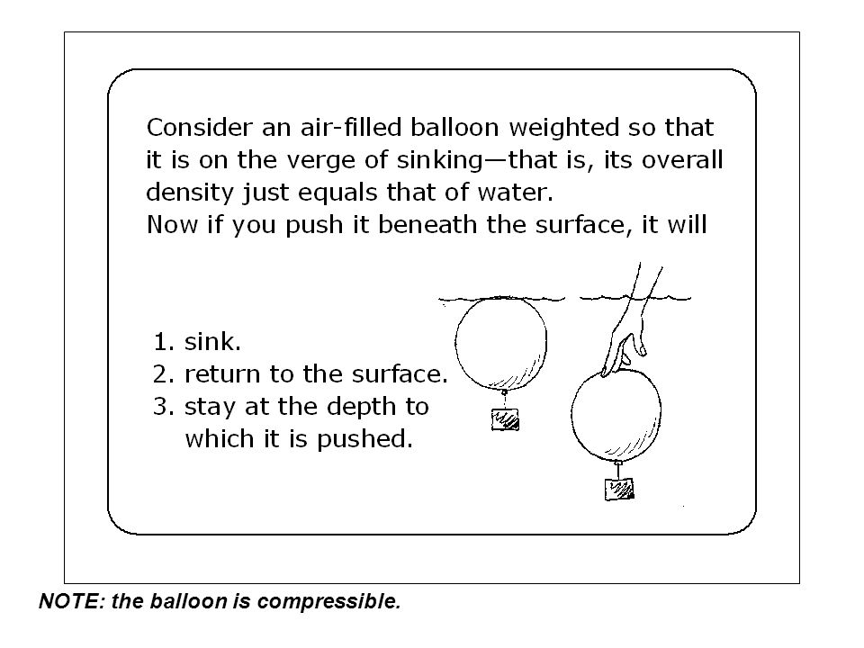 NOTE: the balloon is compressible.