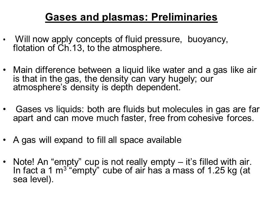Gases and plasmas: Preliminaries