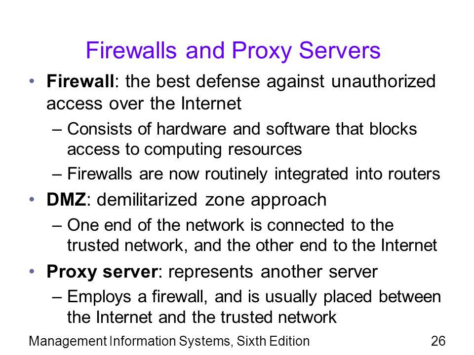 Firewalls and Proxy Servers