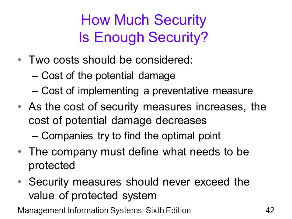 How Much Security Is Enough Security
